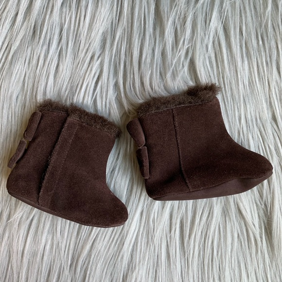 GAP Other - Baby GAP Infant Girl Slip On Suede Brown Boots